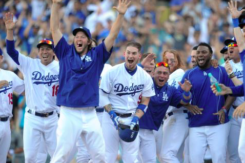 Los Angeles Dodgers win NL West