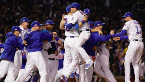Chicago Cubs clinch birth in World Series.