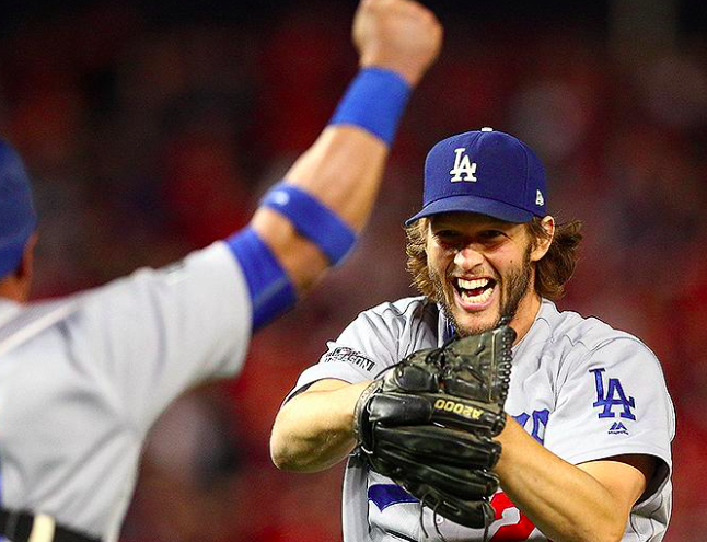 Los Angeles Dodgers Clayton Kershaw NLDS