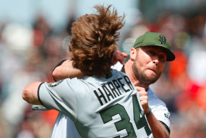 Bryce Harper Hunter Strickland