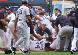 Tigers Yankees Fight