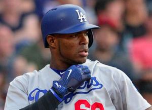 Los Angeles Dodgers Yasiel Puig