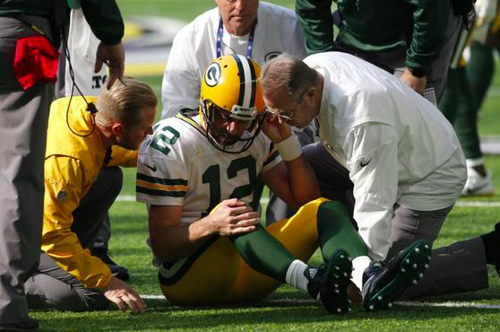 Green Bay Packers Aaron Rodgers injury