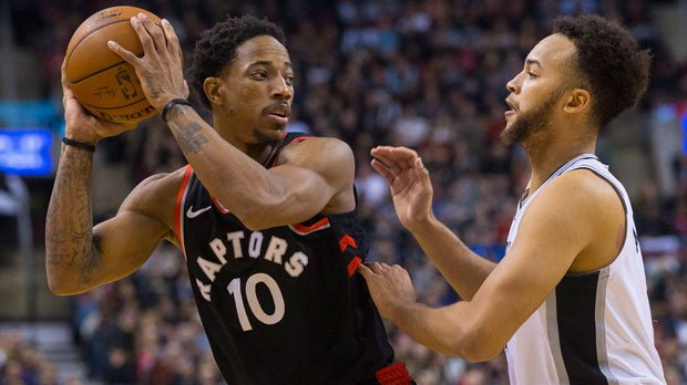 Lowry, DeRozen lift Raptors past Spurs