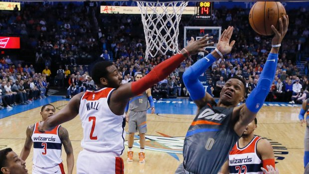 Westbrook stars as Thunder see off 76ers