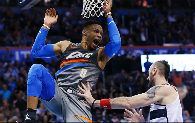 Westbrook, George Shine for Thunder, Cavs Earn Back-to-Back Wins