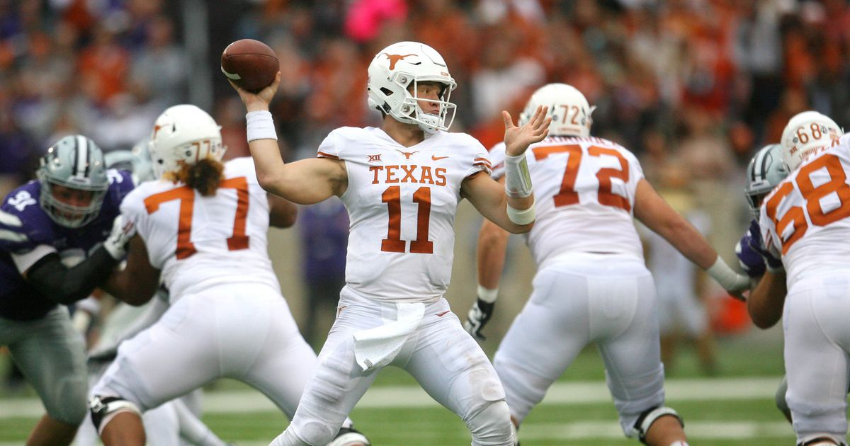 No. 18 Texas holds off late rally from K