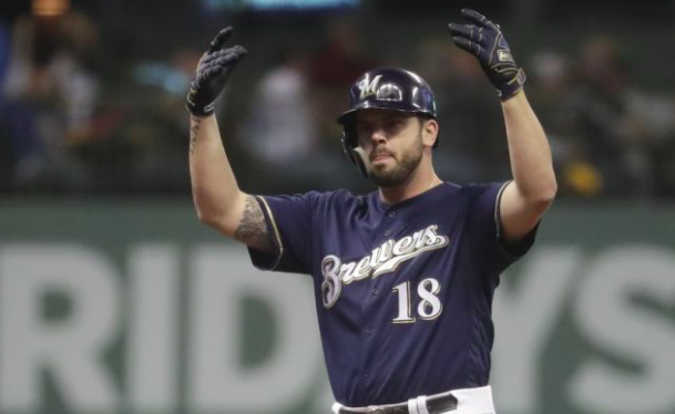Milwaukee Brewers Mike Moustakas