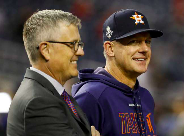 Houston Astros AJ Hinch Jeff Luhnow